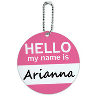 Arianna Hello My Name Is Round ID Card Luggage Tag