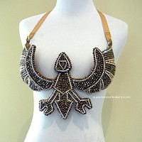 Triforce Legend Of Zelda Samba Cage Cosplay Costume Rave Bra Burlesque