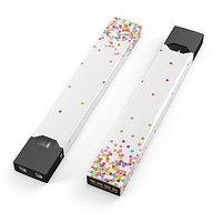 Ascending Multicolor Polka Dots - Premium Decal Protective Skin-Wrap Sticker compatible with the Juul Labs vaping device