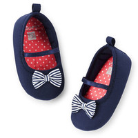 Carter's Bow Mary Jane Crib Shoes