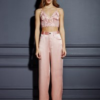 Lily Embroidery Long Lined Triangle Bra