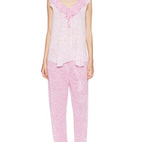 A Soft Focus Knit Pajama Set