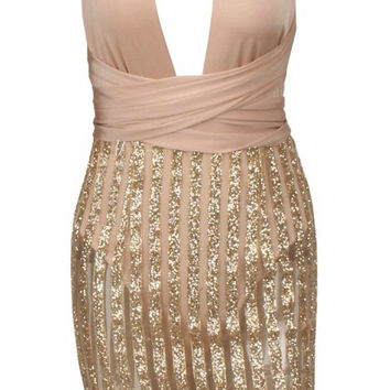 'Miriam' Sequined Bodycon Dress