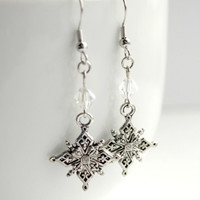 Romantic Neo Victorian Silver & Clear Crystal Dangle Earrings - Vintage-Inspired Beaded Period Jewelry - Handmade Gift Idea - Ready to Ship