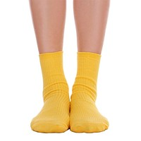 Solid Ankle Socks - Yellow