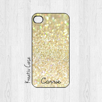 iPhone 5 Case, iPhone 5s Case, Pesonalized iPhone Case, Custom iPhone Cover with Glitter Effect - K025
