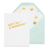 """You're Awesome"" single card"