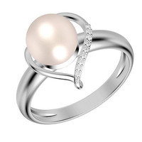 2.13CT WHITE ROUND PEARL SOLITAIRE 925 STERLING SILVER WEDDING RING FOR HER