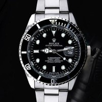 Rolex Watch Personalized luxury global Rolex watches Black Silver