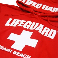 Lifeguard Miami Beach Hoodie Sweatshirt S