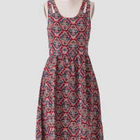 Marcelline Printed Midi Dress