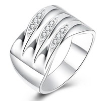 Stylish Jewelry Shiny New Arrival Gift Accessory Innovative Silver Ring [9122233223]