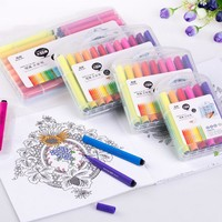 12 18 24 36 Colors Washable Watercolor Pens Marker Painting Drawing Artist Sketch Markers for School Supplies
