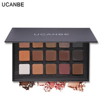 15 Color UCANBE Earth Color Glitter Eyeshadow Make Up Palette Matte Pigment Makeup Nude Eye Shadow Shimmer Cosmetics 6 Styles