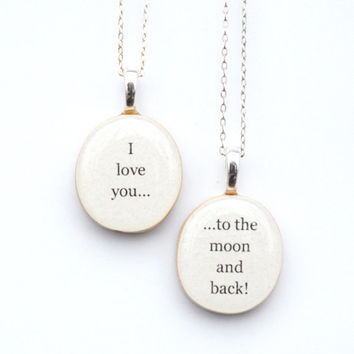 Mother daughter necklace set gift for her personalized jewelry gift going away gift mother child gift Christmas gift