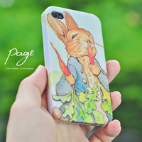 Apple iphone case for iphone iphone 3Gs iphone 4 iphone 4s iPhone 5 : Mr. Rabbit is eating the carrot