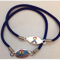 2 Autism Awareness Stretch Bracelets