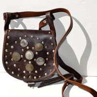 mini vintage leather bag
