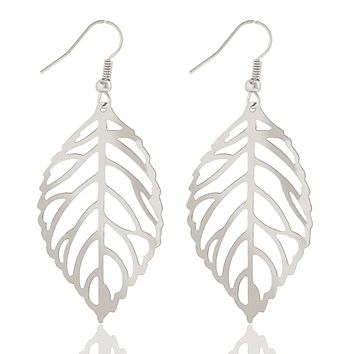 Seasons of Beauty Leaf Cut Out Necklace or Earrings For Woman