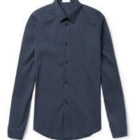 Balenciaga - Slim-Fit Cotton-Blend Poplin Shirt | MR PORTER