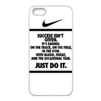 NIKE QUOTE JUST DO IT Top Waterproof Rubber(TPU) Apple iPhone 5 5s Case Cover from Good luck to