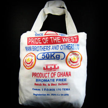 Reusable Shopping Bag - Ghana - Recycled - Flour Sack