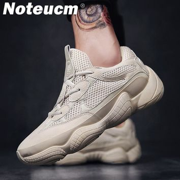 Noteucm 2018 Vintage men's male kanye dad casual shoe chunky west platform sneakers for men thick sole adult bambas trainers 500