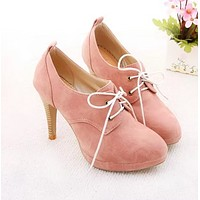 New Fashion Leather Pointed Toe Women Ankle Boots Casual Ladies Autumn Ankle Strap Booties Shoes Women Pink