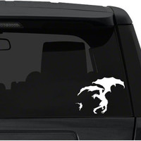 Car Window / Bumper Decal Sticker - Skyrim Dragon battle 2