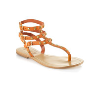 Persefone Orange Sandal with Studs