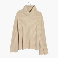 Cashmere Slit-Sleeve Turtleneck Sweater : shopmadewell turtlenecks | Madewell