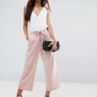 ASOS TALL Tailored Culotte with Tie Waist at asos.com