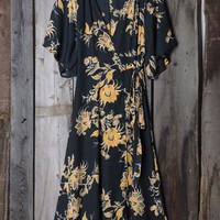 Cupshe Bad Moon Printing Long Wrap Dress