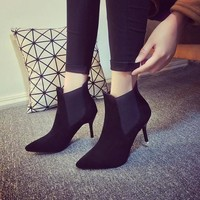 Hot Deal On Sale Shoes Autumn Stylish High Heel Pointed Toe Sexy Dr. Martens Boots [7993617857]
