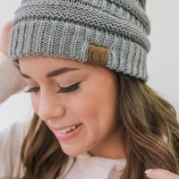 Warm At Last Beanie - Grey