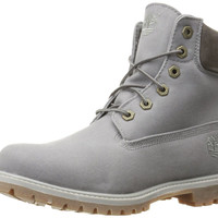 Timberland Women's 6 Inch Premium Fabric Boot Dark Grey Waxed Canvas