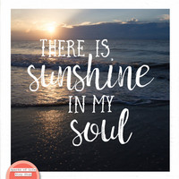 Square printable quotes, beach printable wall art, digital download quote wall art, ocean quote art, sunshine word art, sunshine in my soul