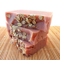 ON SALE Handmade Soap - Cherry Almond Handmade Soap with Oat Milk and Oatmeal
