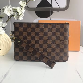 lv louis vuitton woman men envelope clutch bag leather file bag tote handbag 3