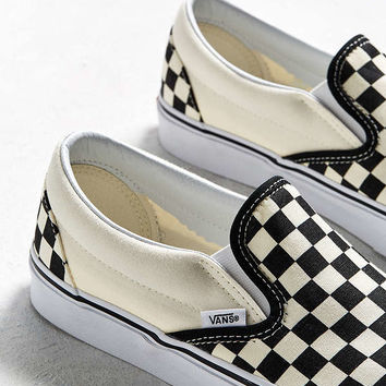 Vans Classic Checkerboard Slip-On Sneaker | Urban Outfitters