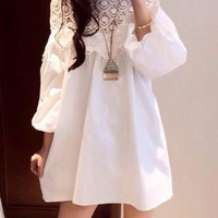 New Womens Summer Sexy Lace Casual Party Evening Cocktail Short Mini Dress White