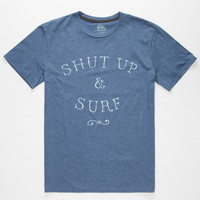 Quiksilver Just Surf Mens T-Shirt Royal Blue  In Sizes