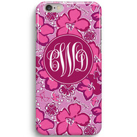 Sigma Kappa Flower Personalized Monogram Inspired Lilly Pulitzer iPhone 6 Case, iPhone 5S Case