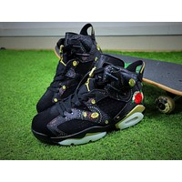 2018 Air Jordan Retro 6 CNY Chinese New Year 3M Exquisite Floral Embroidery Fireworks Men Basketball Shoes Sneakers