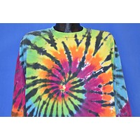 80s Rainbow Tie Dyed Spiral t-shirt Extra Large