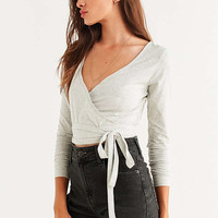 UO Cross Wire Wrap Front Top | Urban Outfitters