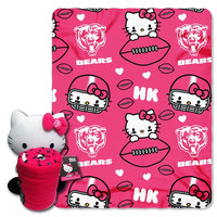 Chicago Bears NFL Hello Kitty with Throw Combo