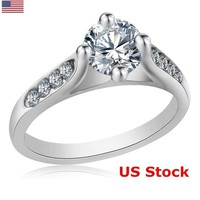 925 Silver Solitaire Wedding Cubic Zirconia Ring