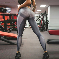 Sexy  Stretched Gym Clothes Spandex Running Tights Women Sports Leggings Fitness