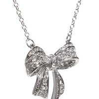 Ted Baker Pave Bow Necklace